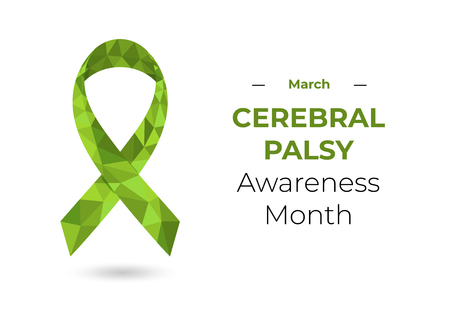 Cerebral Palsy Awareness Month concept with ribbon