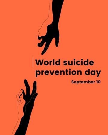 Minimalistic World Suicide Prevention Day illustration web 向量圖像