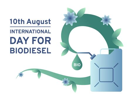 International day for biodiesel colorful vector illustration for web and printing.