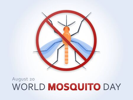 World Mosquito Day with anti-mosquito sign for web and printing.
