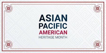 Asian Pacific American Heritage Month - May - horizontal vector banner template. Identity and heritage. Celebration the achievements and contributions of Asian and Pacific Islanders to world culture.