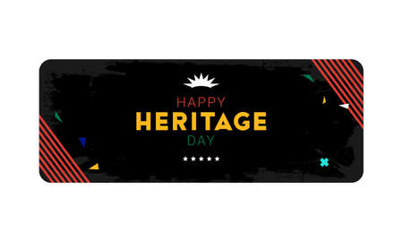 Happy Heritage Day - 24 September - horizontal banner template with the South African flag colors on dark background. South African public holiday celebrating African culture