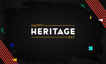 Happy Heritage Day - 24 September - horizontal banner template with the South African flag colors decorative elements on dark background. Celebrating African culture, beliefs and traditions