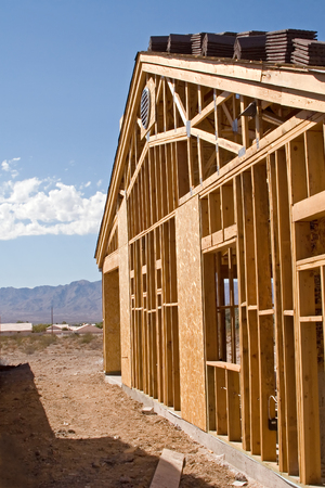 nevada: New Home Construction site – Residential Stock Photo