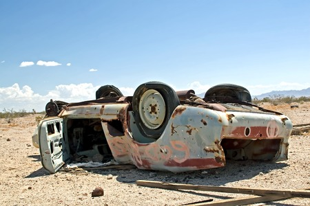 Abandon Car in the middle of the Desert