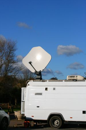 Television Outside Broadcast Truck Imagens