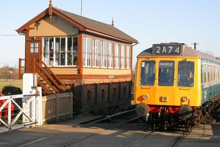 DMU Railway Engine and Signal Box Imagens