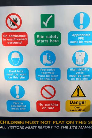 Construction Site Safety Sign photo