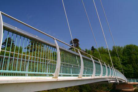 devon: Suspension Bridge, Exeter, Devon, England