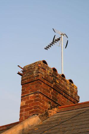 Domestic Chimney Stack Imagens