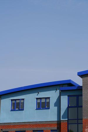 Blue Apartments Building