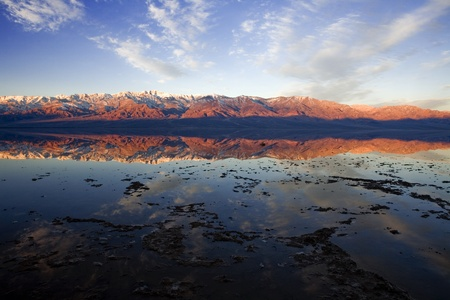 bad water in death valley in the early morning photo