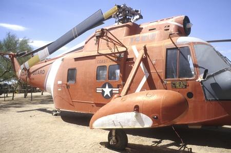 pima: U.S. Coast Guard Sikorski helicopter at Pima Air & Space Museum in Arizona.