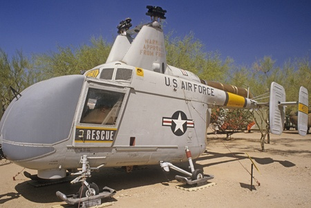 pima: U.S. Air Force rescue helicopter at Pima Air & Space Museum in Arizona.