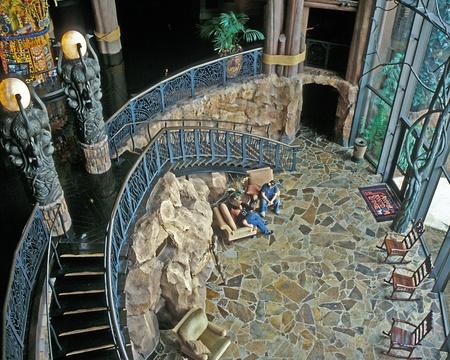 Interior of Disney Animal Kingdom Lodge, Orlando, Florida.
