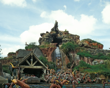 Splash Mountain water flume ride in Magic Kingdom, Disney World, Orlando, Florida. Amusement ride. Editorial