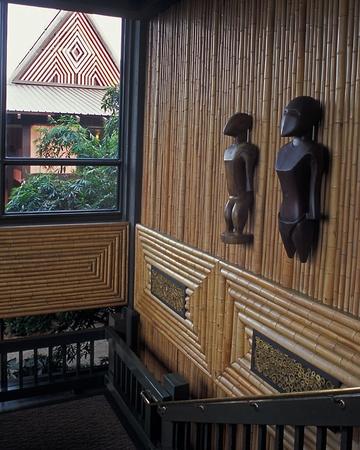 Stairway inside Polynesian Disney World Editorial