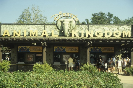 Disney World Animal Kingdom entrance Editorial