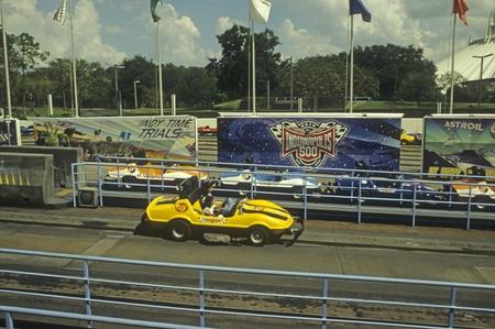 Disney World EPCOT Future World - Test Track amusement ride. Editorial