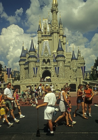 cleanup: Disney World Magic Kingdom Cast Member (cleanup crew) at Cinderella