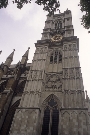 Exterior of Westminster Abby in London, England.