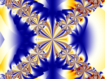 Blue and Gold abstract background  Imagens