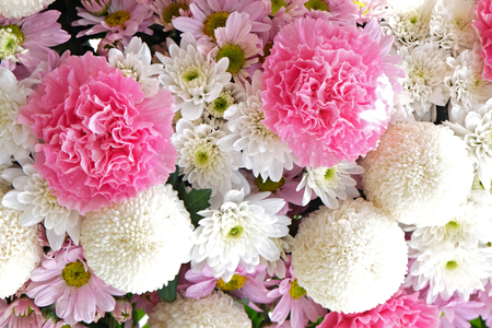 Mixed fresh flower in the  wedding party Stock Photo