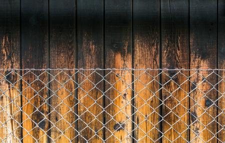metal mesh: Double fence - symbol of protection privacy and security