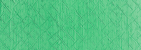 Green relief on the wall. Retro plaster on wall with a patterned relief in a hallway of an old house.