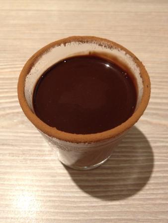 pannacotta: Chocolate Panna Cotta Stock Photo