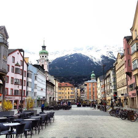 coulorful: Innsbruck city