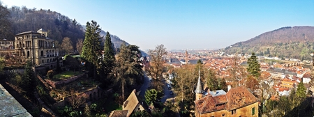 heidelberg: Look at Heidelberg city from the castle