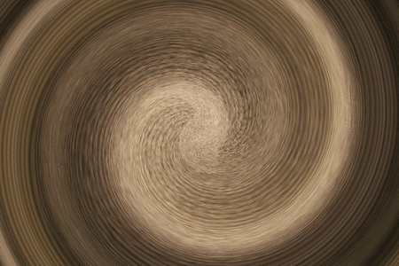 Swirl of brown rug