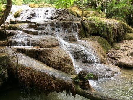 Nature waterfall Stock Photo