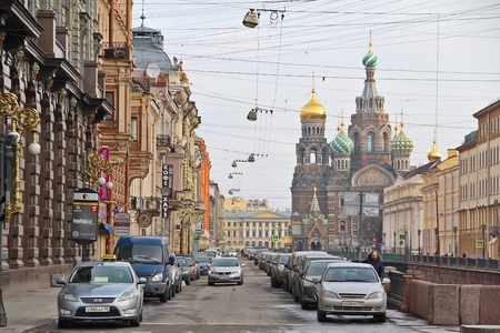 chappel: Saint Petersburg RUSSIA -April 5:The Church of the Savior on Spilled Blood, historic church and well know landmark on April 05, 2015