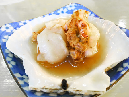 hotate: Grilled scallop or Japanese Hotate
