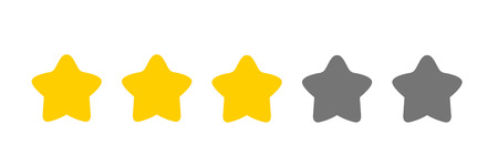 three cute stars rating icon vector