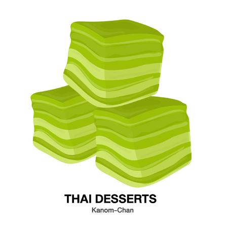 Kanom-Chan.THAI DESSERTS,Kanom Thai