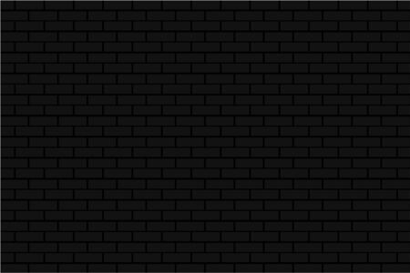black brick tile wall background illustration vector