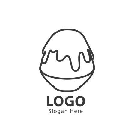 bingsu logo design illustration vector