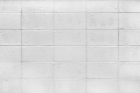 white brick wall surface texture for background.