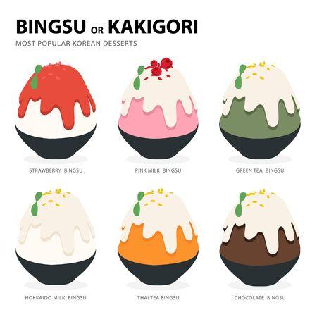 bingsu or kakigori most popular korean desserts