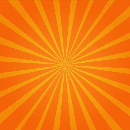 vettore del fondo della carta da parati di scoppio del sole arancione