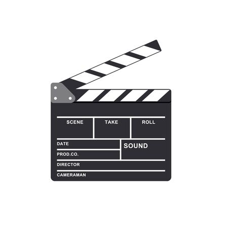 clapperboard vector isolated on white background