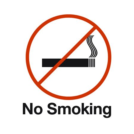 no smoking area sign illustration  vector
