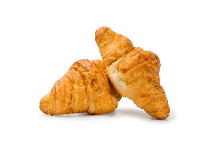 homemade croissants on a white background