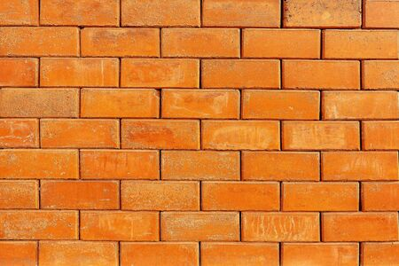 close up red brick wall textured background