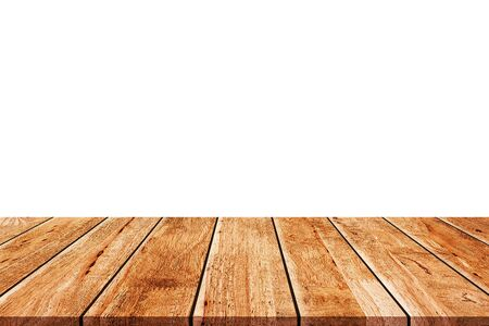 table wooden plank isolated on white background