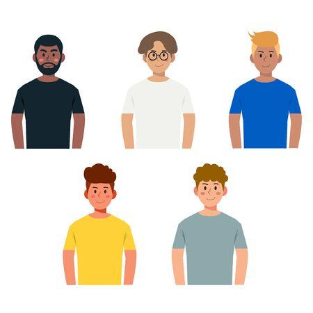 Set of simple avatar character design illustration vector eps10
