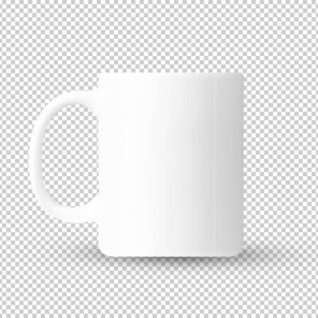 mockup white ceramic coffee cup isolated on transparent background Reklamní fotografie